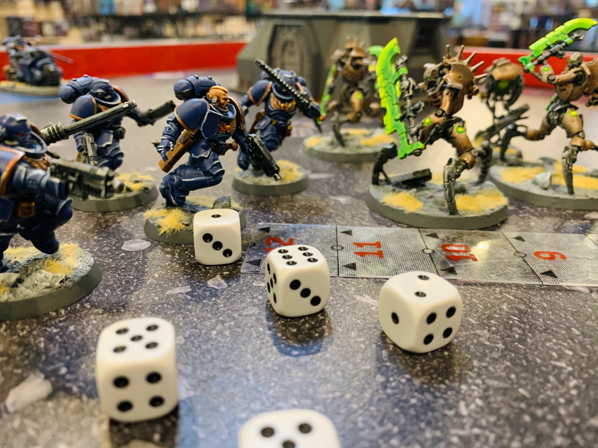 Dice and figures